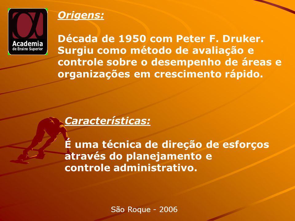 Origens: Década de 1950 com Peter F.Druker.