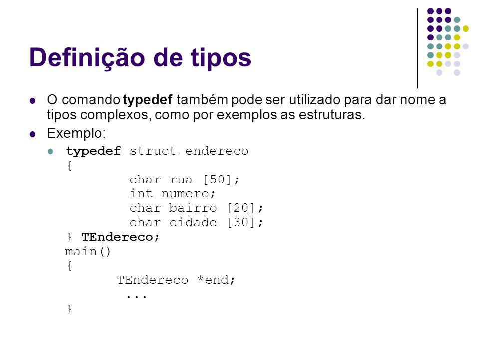 I/O – fread - fwrite unsigned fwrite(void *buffer,int tam,int qtd,FILE *fptr); onde : buffer – ponteiro do tipo void para o endereço da memória do dado a ser armazenado tam – tamanho em bytes do tipo de dados a ser armazenado qtde – quantidade de itens a serem gravados fptr – corresponde ao ponteiro do arquivo a ser gravado