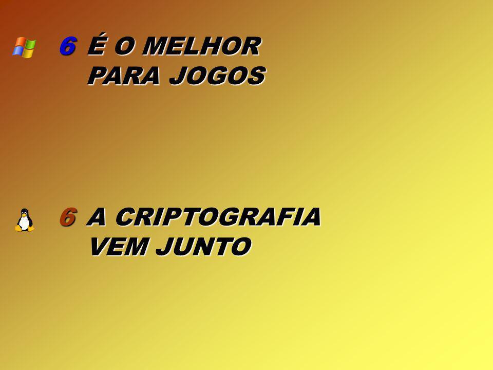 6 6 É O MELHOR PARA JOGOS A CRIPTOGRAFIA VEM JUNTO