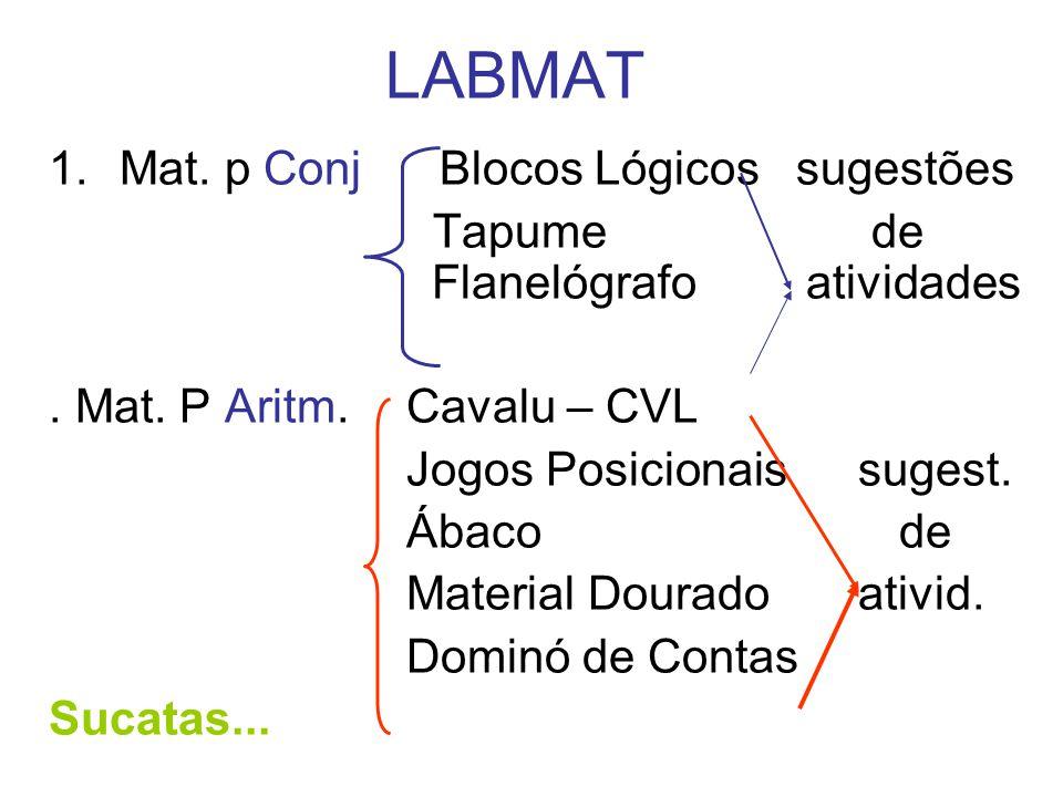 LABMAT 1.Mat.p Conj Blocos Lógicos sugestões Tapume de Flanelógrafo atividades.