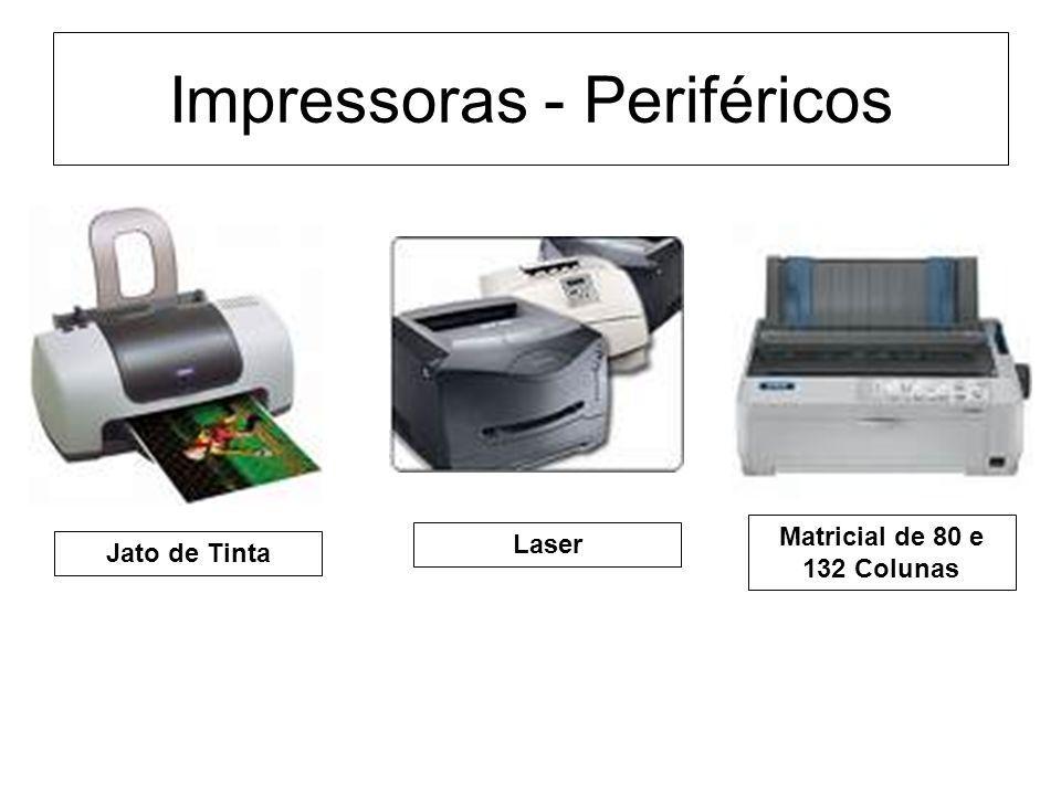 Impressoras - Periféricos Jato de Tinta Laser Matricial de 80 e 132 Colunas