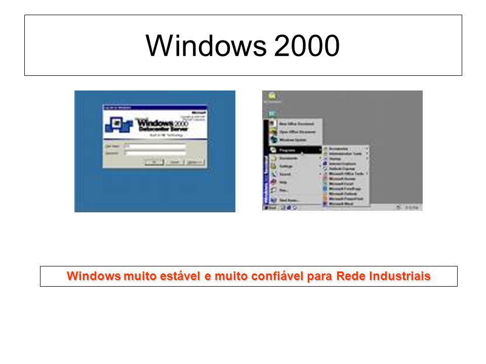 Windows 2000 Windows muito estável e muito confiável para Rede Industriais