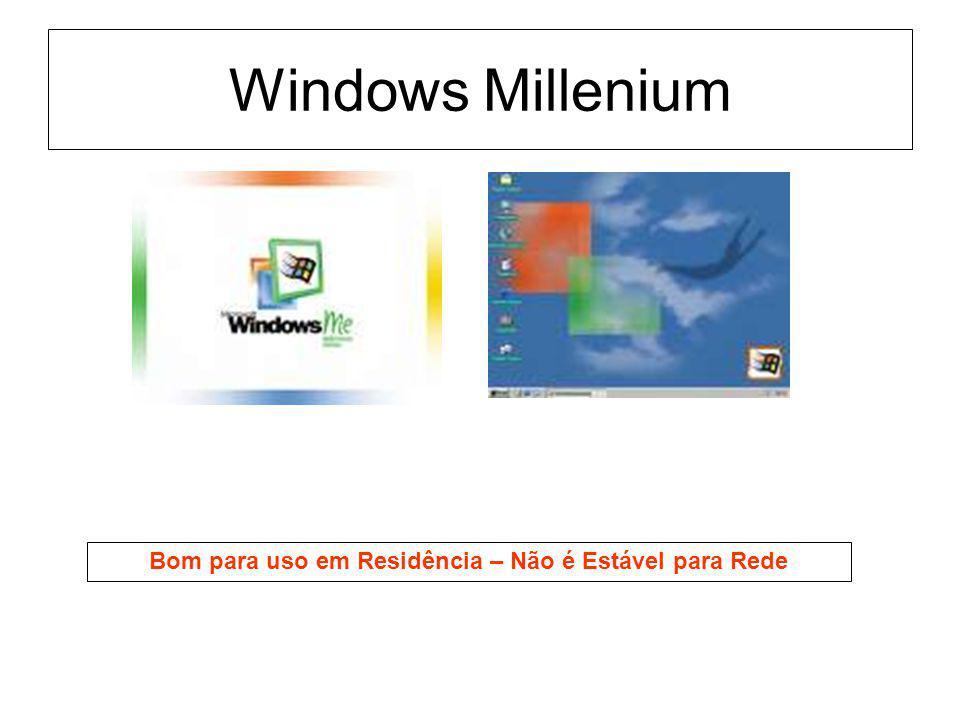 Windows Millenium Bom para uso em Residência – Não é Estável para Rede