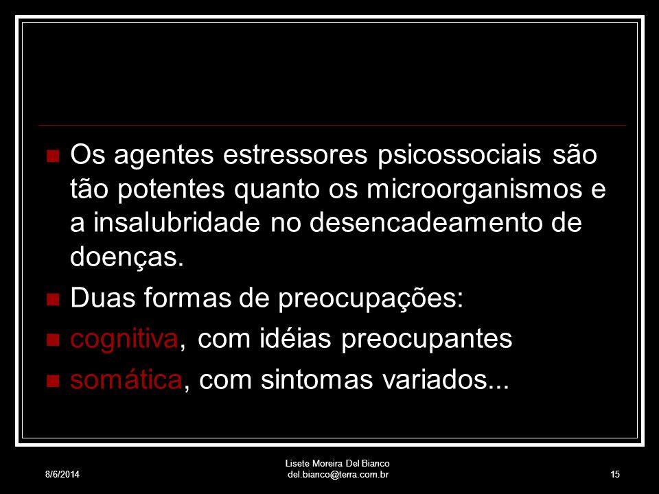8/6/2014 Lisete Moreira Del Bianco del.bianco@terra.com.br14 Padrões Disposicionais Padrões Relacionais Padrões Situacionais Padrões de Ciência Filosó