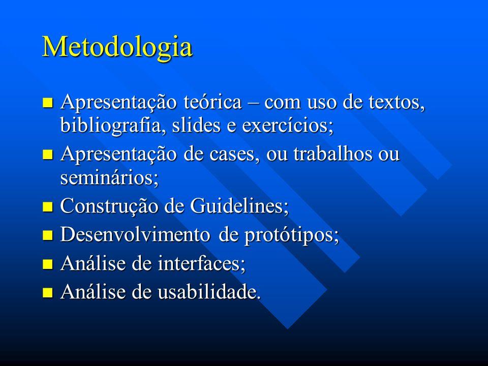 Bibliografia Básica: PAULA FILHO, W.P. Multimídia: conceitos e aplicação.