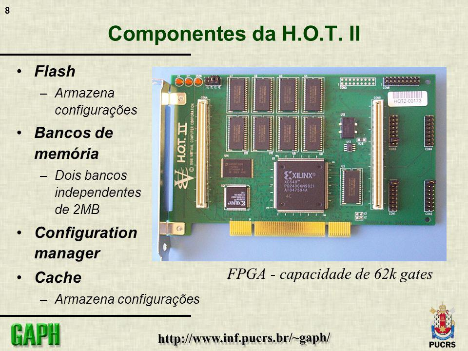 9 Modelo de execução hardware/software COREPCICOREPCI BACK-END FPGA Processador PC