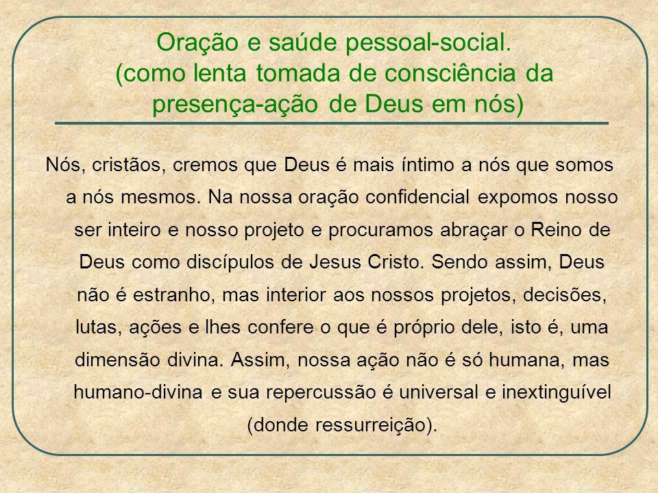 Oração e saúde pessoal-social.