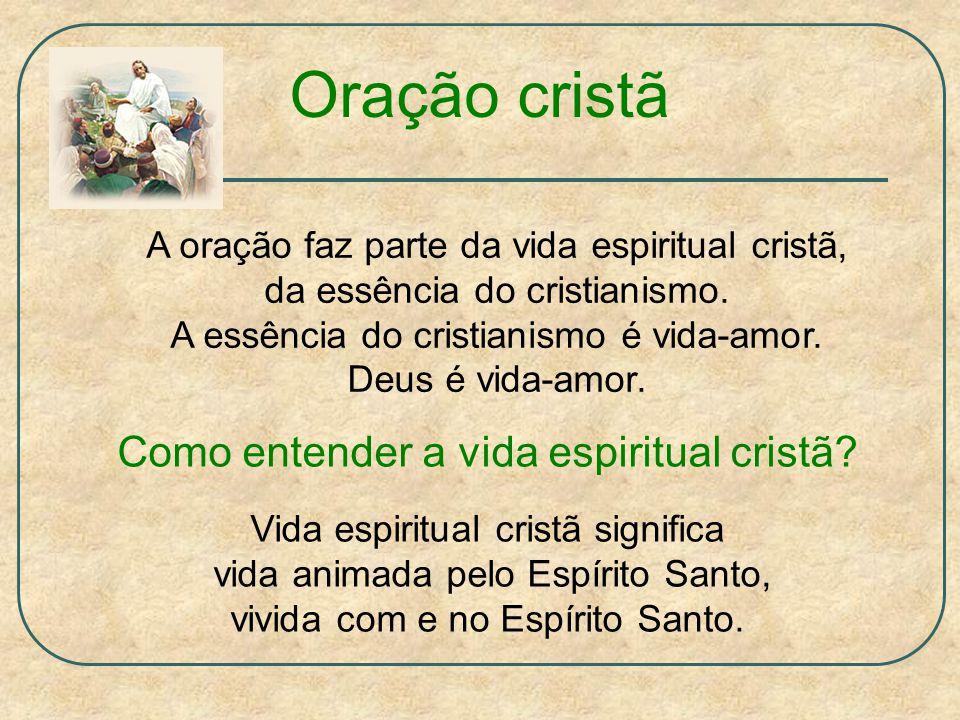 Oração cristã A oração faz parte da vida espiritual cristã, da essência do cristianismo.
