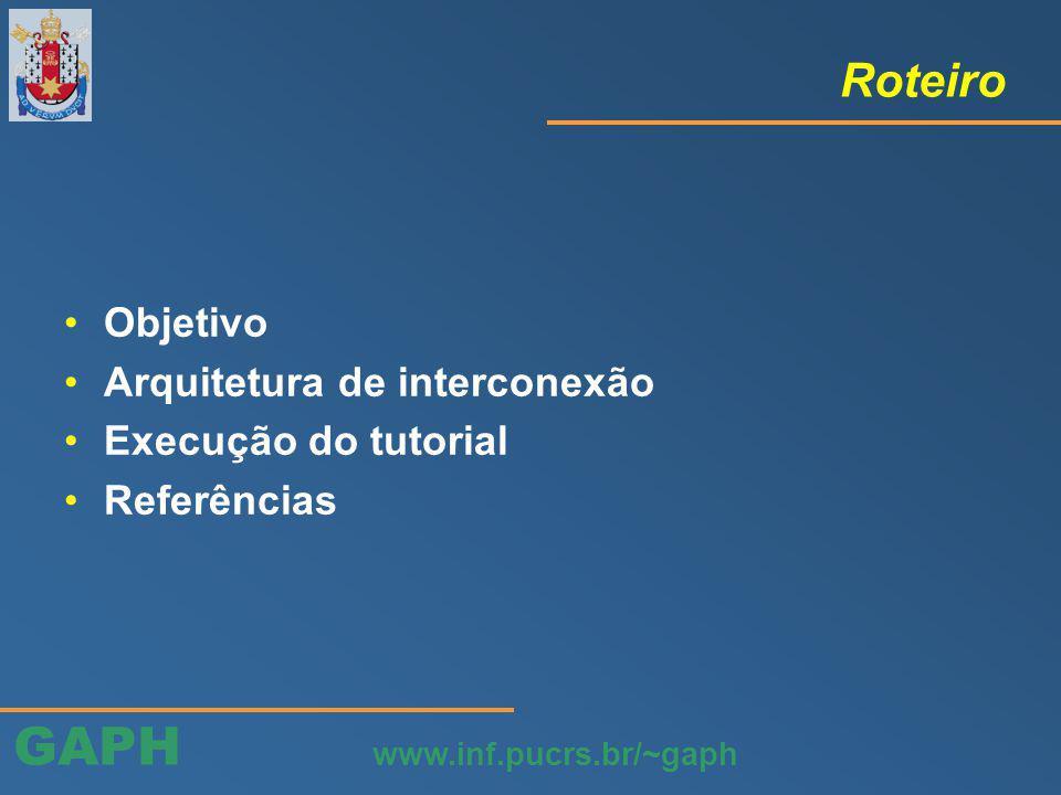 GAPH www.inf.pucrs.br/~gaph Execução do tutorial (passo 19)