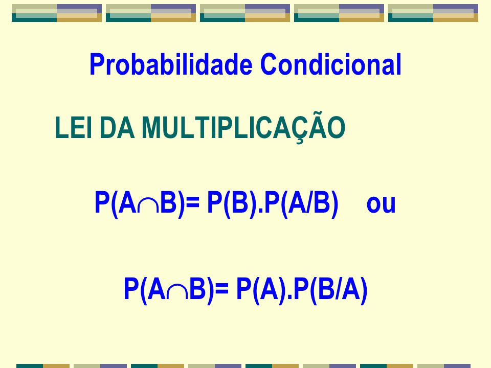 A Expressão da Probabilidade 7. A probabilidade do complementar de A é