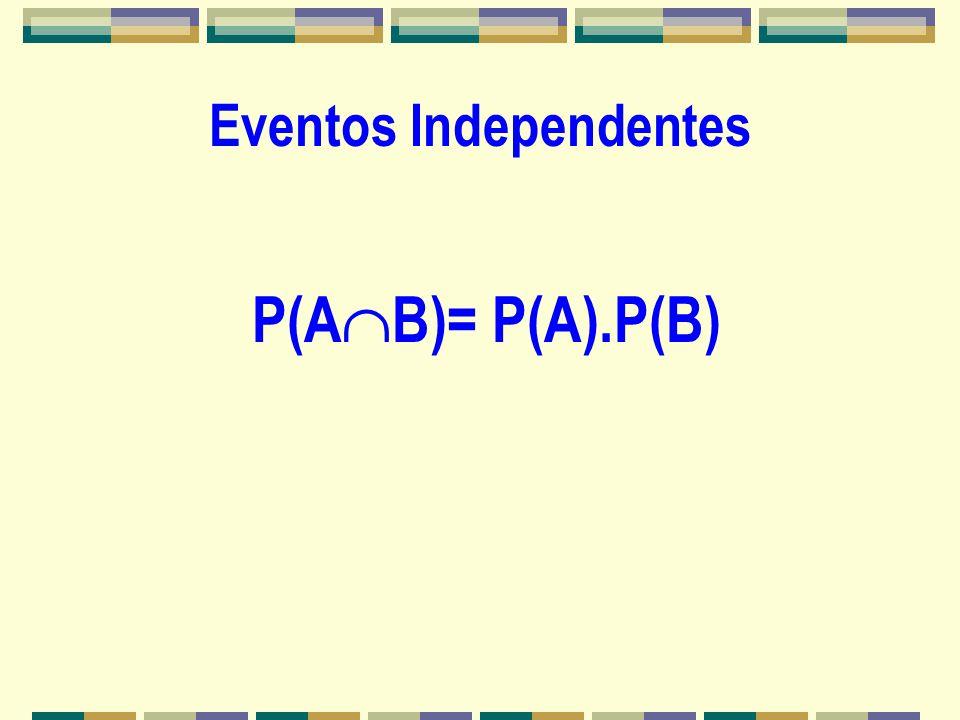 Probabilidade Condicional LEI DA MULTIPLICAÇÃO P(A B)= P(B).P(A/B) ou P(A B)= P(A).P(B/A)