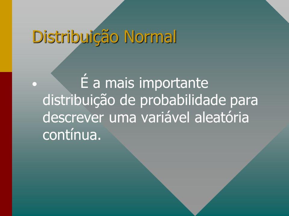 É a mais importante distribuição de probabilidade para descrever uma variável aleatória contínua.