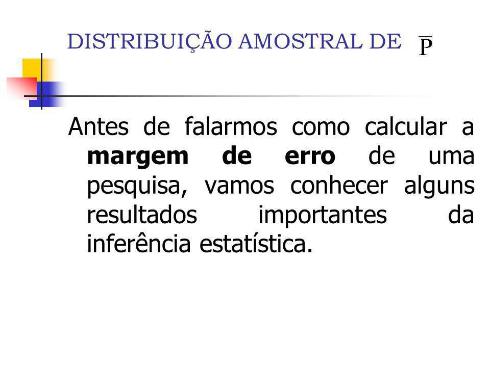 DISTRIBUIÇÃO AMOSTRAL DE 1.