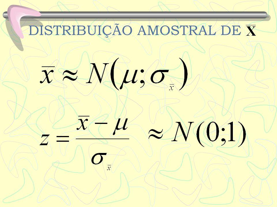 Pode-se usar a tabela da distribuição Normal para calcular probabilidades da localização de.