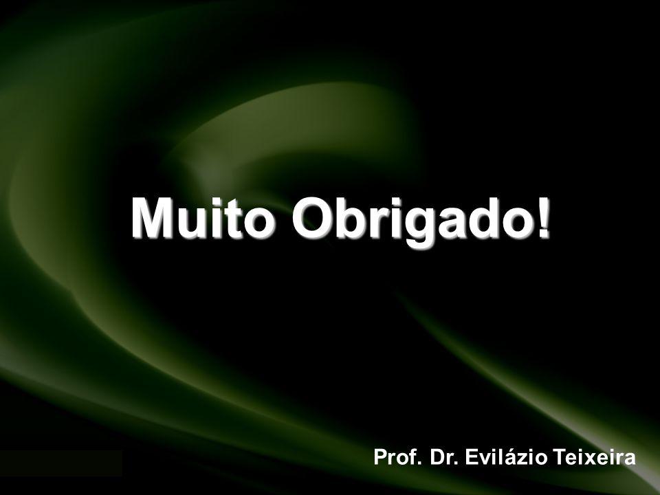 Muito Obrigado! Prof. Dr. Evilázio Teixeira