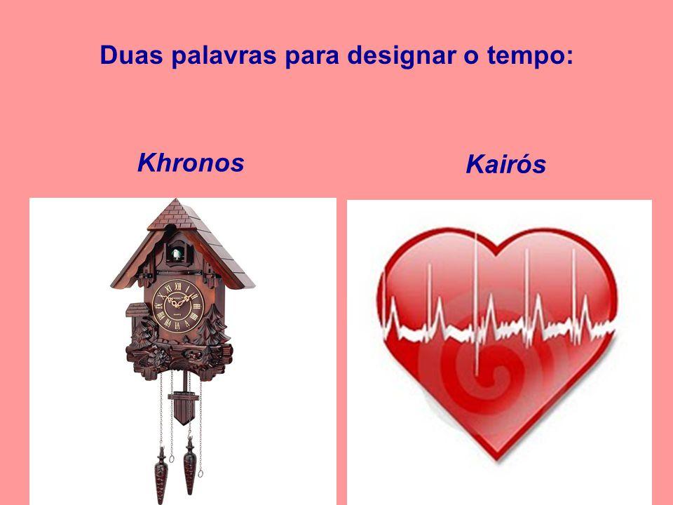 Kairós Duas palavras para designar o tempo: Khronos