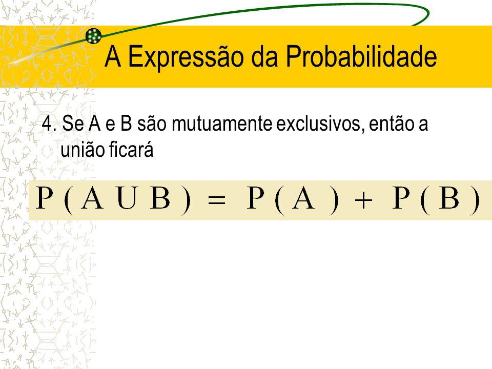 A Expressão da Probabilidade 3. Para todo o evento A,