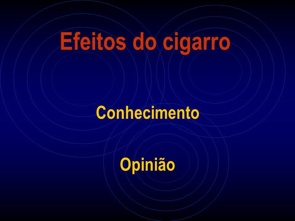Efeitos do cigarro Conhecimento Opinião