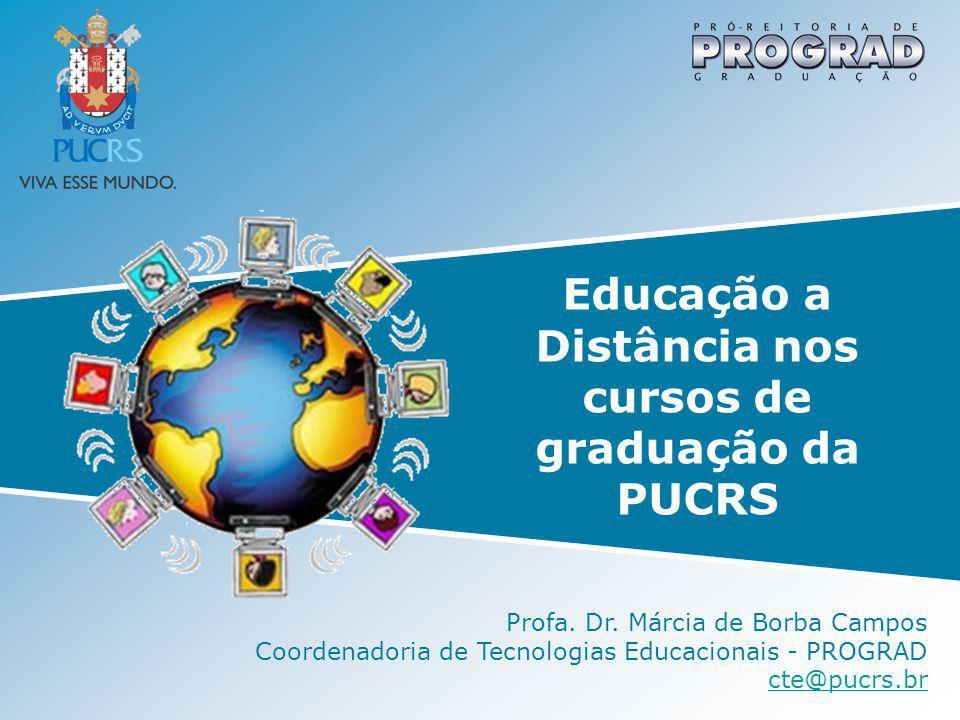 Educação a Distância nos cursos de graduação da PUCRS Profa. Dr. Márcia de Borba Campos Coordenadoria de Tecnologias Educacionais - PROGRAD cte@pucrs.