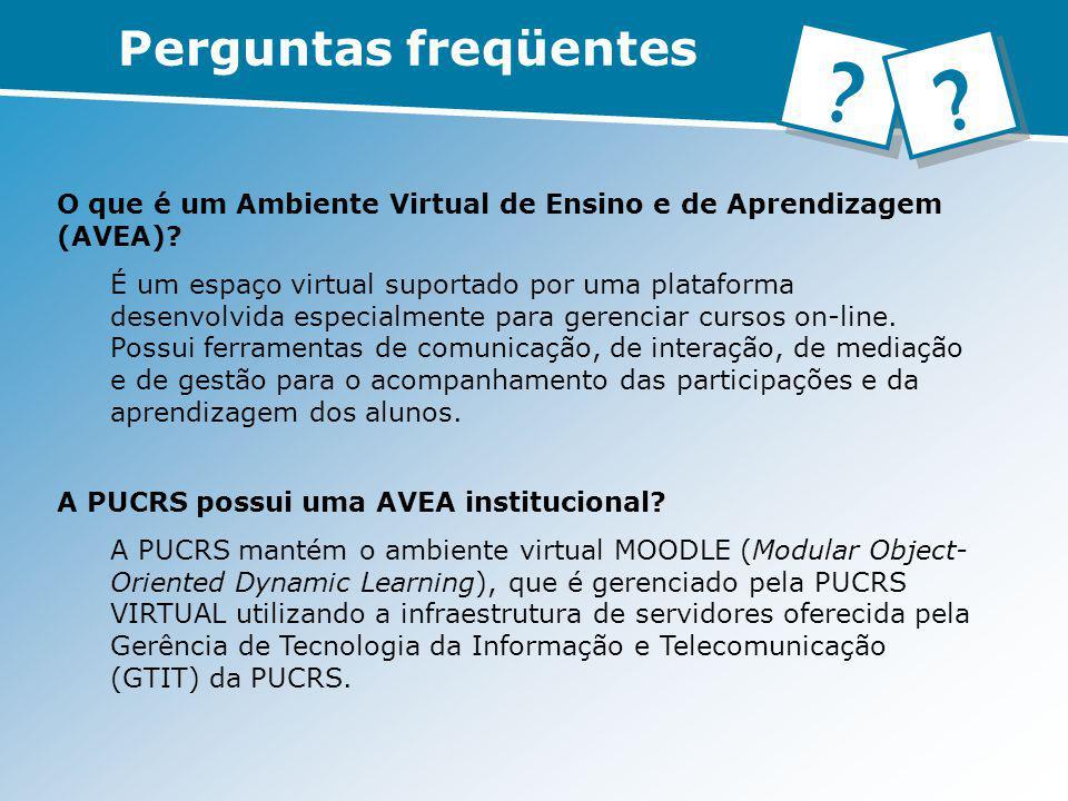 O que é um Ambiente Virtual de Ensino e de Aprendizagem (AVEA)? É um espaço virtual suportado por uma plataforma desenvolvida especialmente para geren