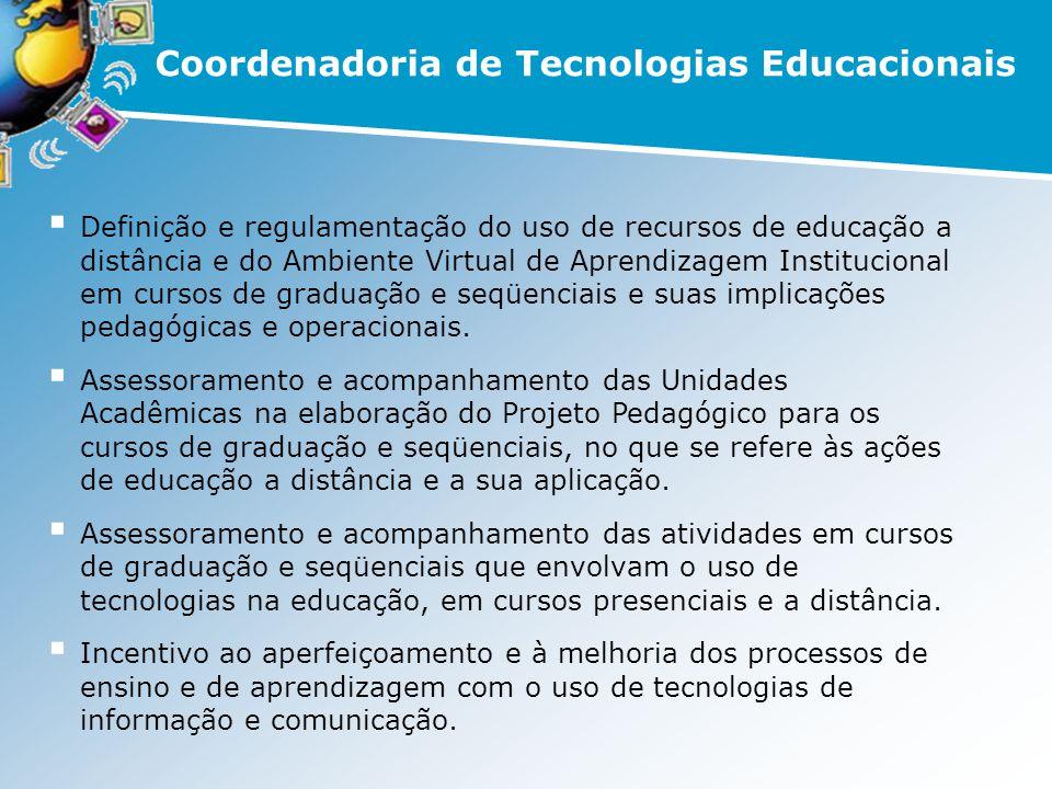Definição e regulamentação do uso de recursos de educação a distância e do Ambiente Virtual de Aprendizagem Institucional em cursos de graduação e seq