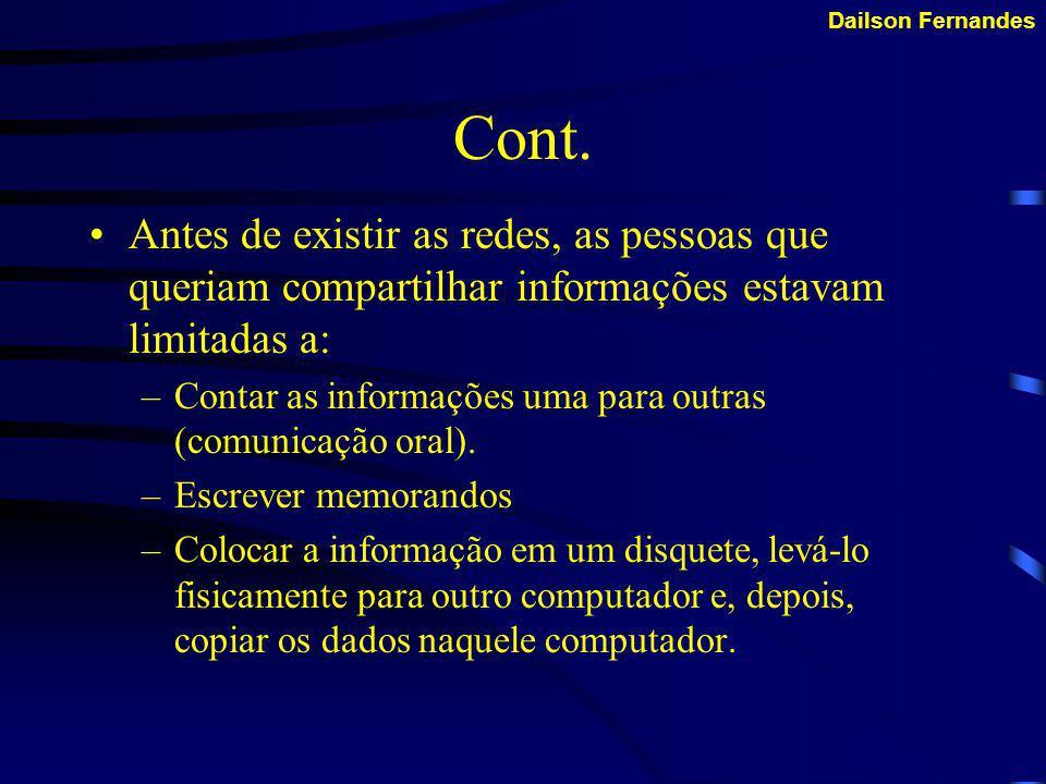 Dailson Fernandes Por que usar Redes.