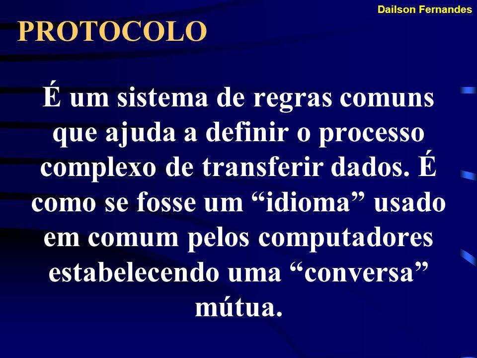 Dailson Fernandes REDES (Conceito 2) Consiste em dois ou mais computadores interligados por qualquer meio, podendo trocar informações entre si. Todas