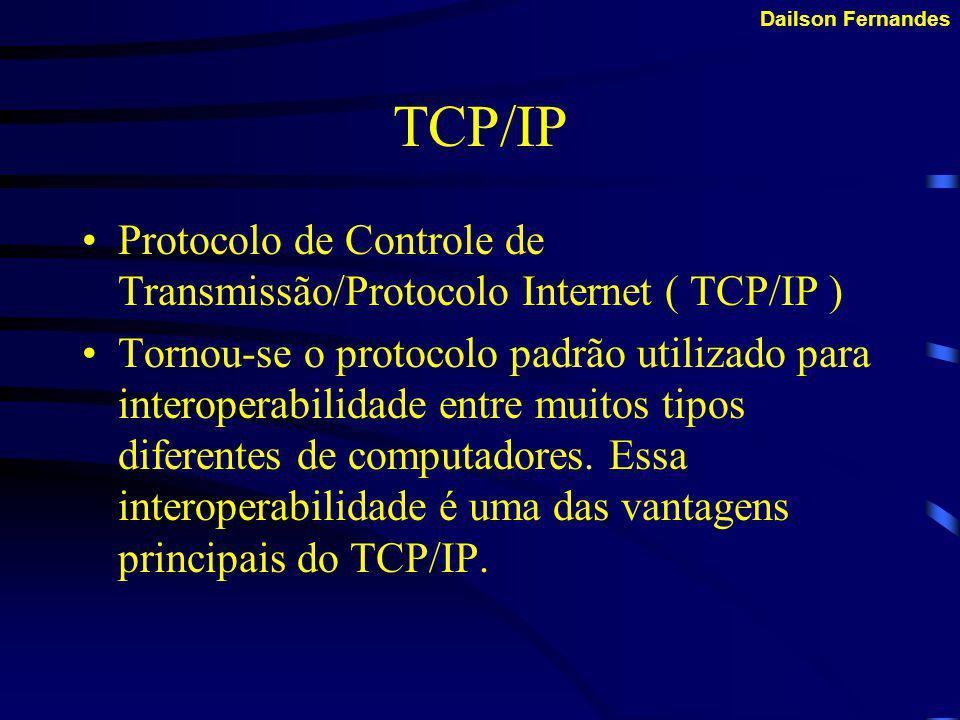 Dailson Fernandes IPX/SPX É o protocolo utilizado para possibilitar a conexão do seu computador com servidores de rede Novell.