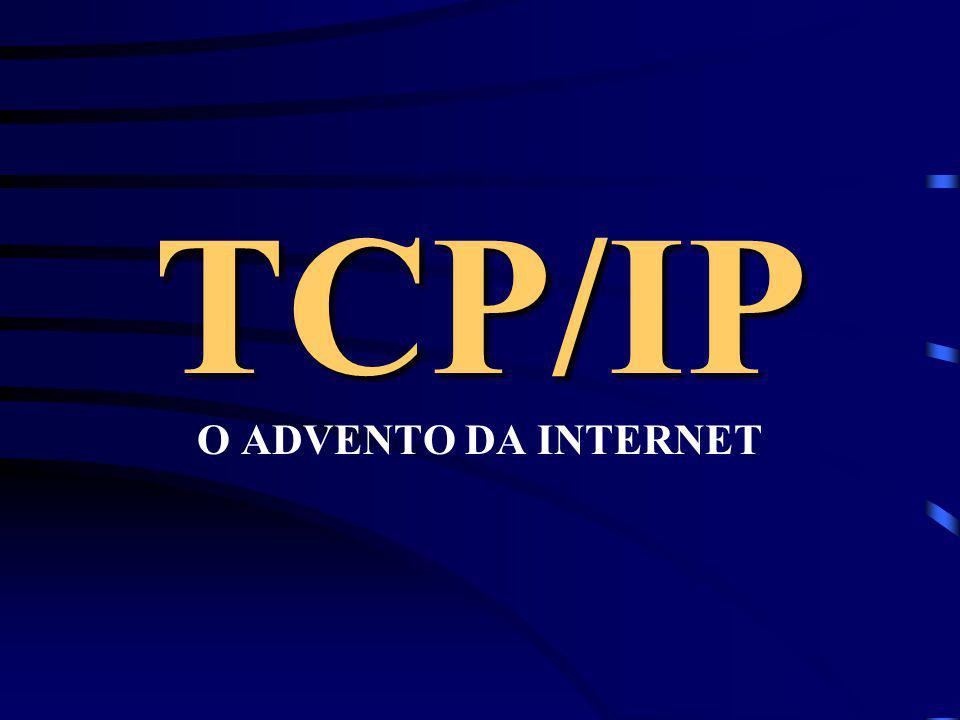 Dailson Fernandes HISTÓRIA DO TCP/IP: O grande bum desta rede foi em 1990 quando deixou de ser acadêmica para ser comercial e o grande marco foi a cri