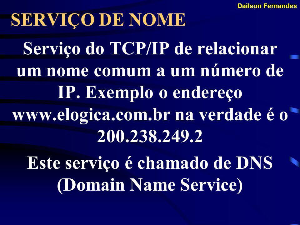 Dailson Fernandes ROTEAMENTO Capacidade do TCP/IP de escolher a rota de um pacote, escolhendo o menor número de hops possível até o destino.