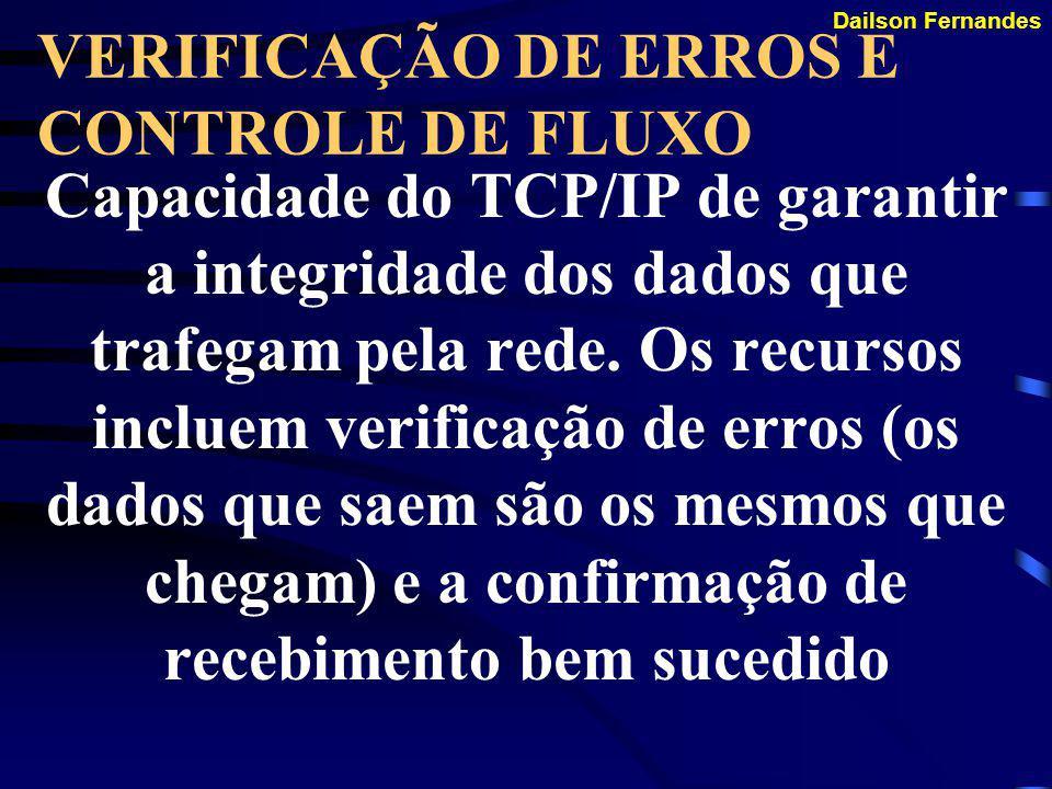 Dailson Fernandes SERVIÇO DE NOME Serviço do TCP/IP de relacionar um nome comum a um número de IP.