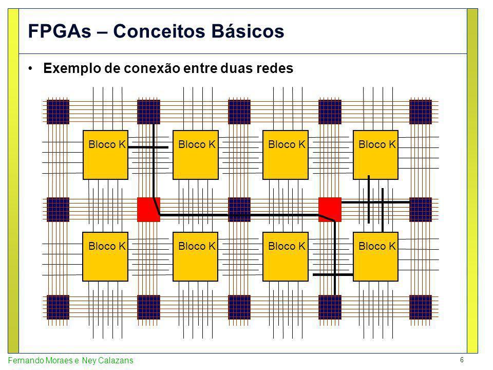 17 Fernando Moraes e Ney Calazans Virtex2P XC2VP7 FPGA Editor View With All Wires Virtex2P XC2VP7 4,928 slices 44 BRAMs 1 PowerPC 11,627 logic sites 2,653 tiles 1,423,681 wires 544,549 segments