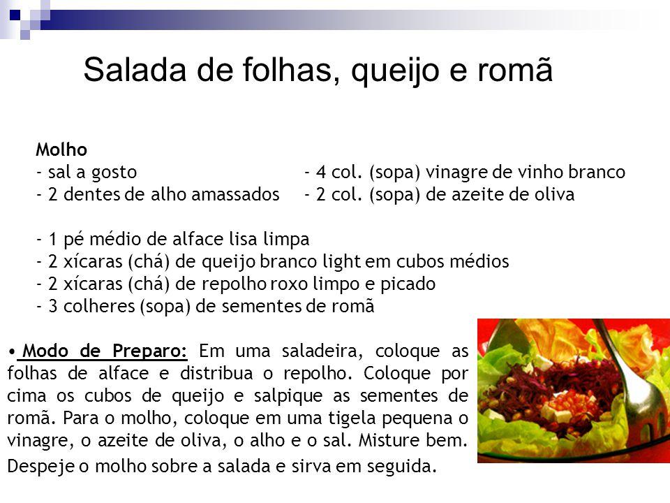 Molho - sal a gosto- 4 col. (sopa) vinagre de vinho branco - 2 dentes de alho amassados- 2 col. (sopa) de azeite de oliva - 1 pé médio de alface lisa