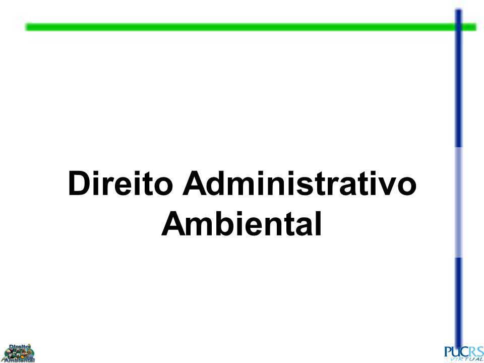(...) Daí poder dizer-se que, no trato do chamado Direito Ambiental, é o Direito Administrativo que se reveste da maior importância, tantas as situações por ele reguladas.