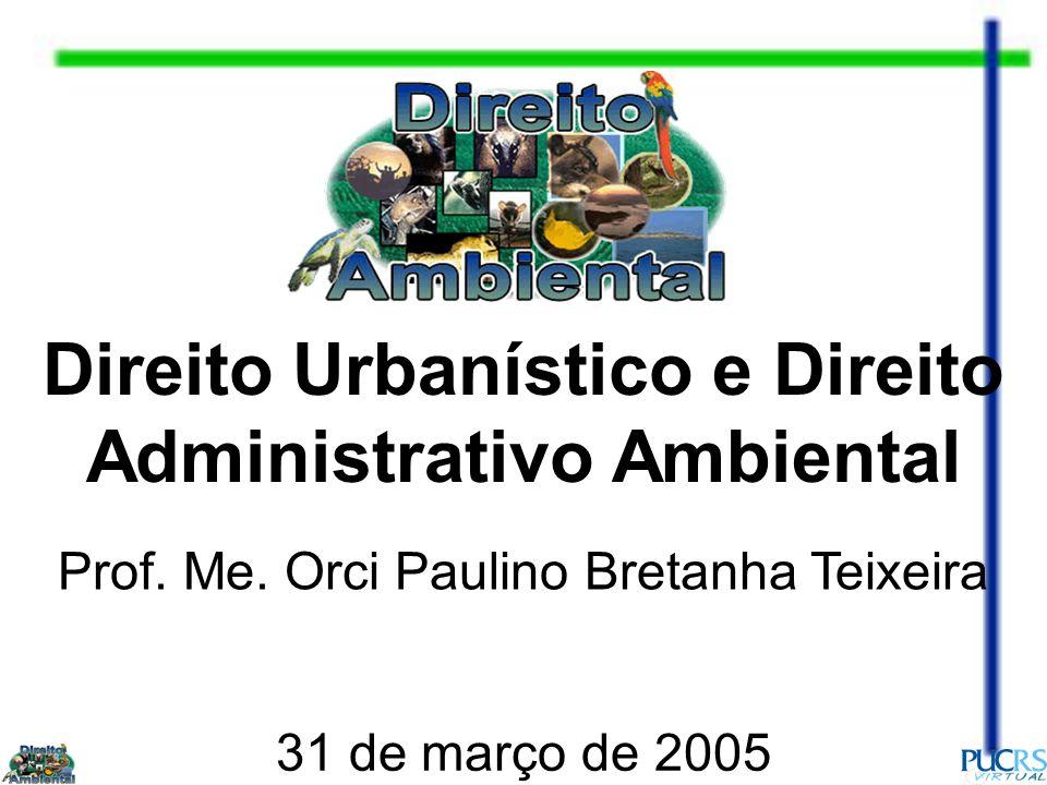 Direito Urbanístico e Direito Administrativo Ambiental Prof.