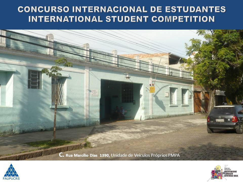 C. Rua Marcílio Dias 1390, Unidade de Veículos Próprios PMPA