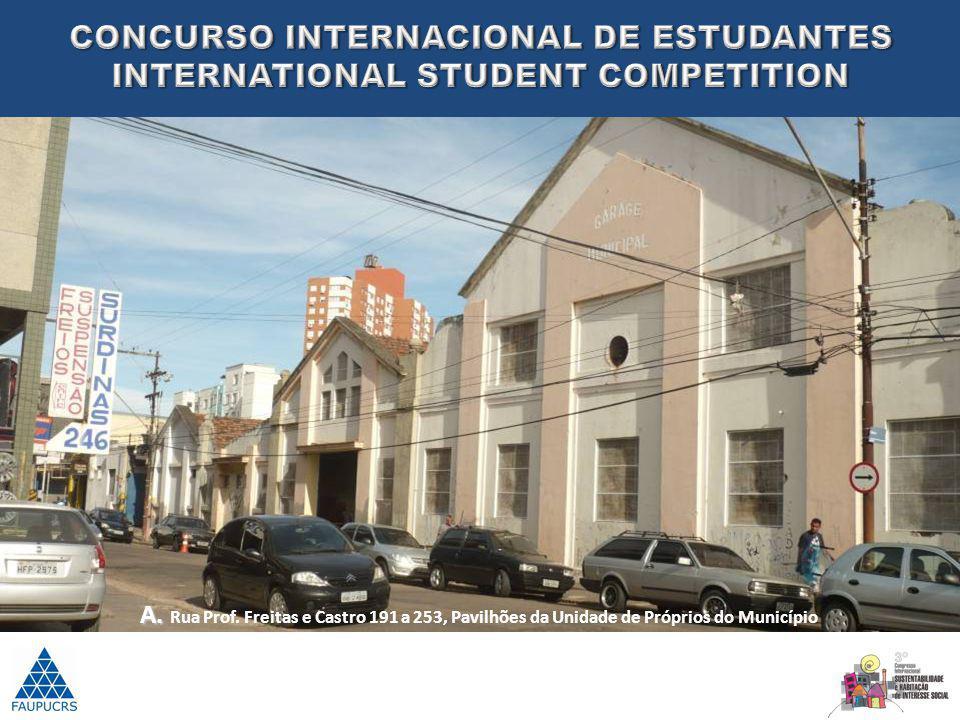 A. A. Rua Prof. Freitas e Castro 191 a 253, Pavilhões da Unidade de Próprios do Município