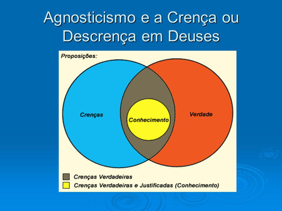 Agnosticismo e a Crença ou Descrença em Deuses