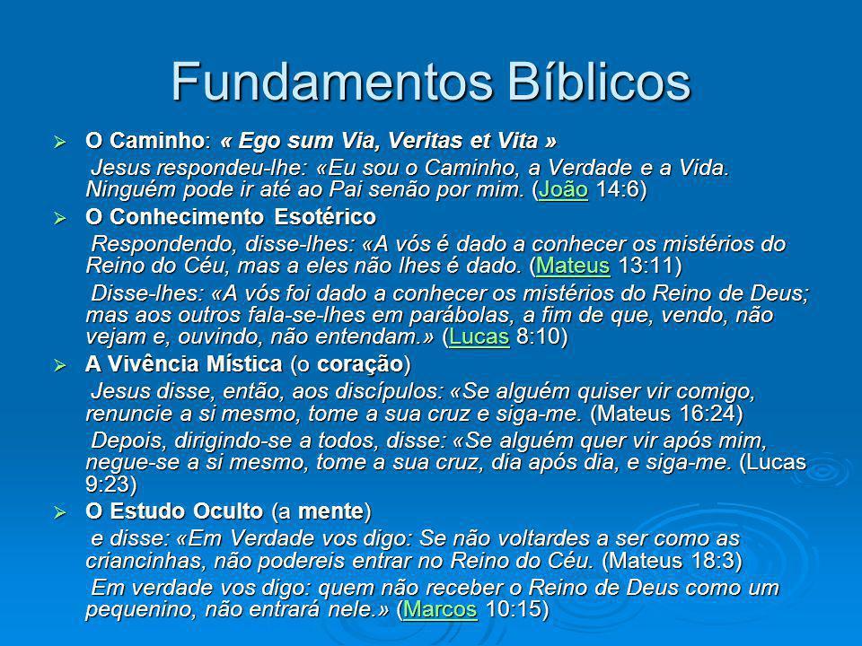 Fundamentos Bíblicos O Caminho: « Ego sum Via, Veritas et Vita » O Caminho: « Ego sum Via, Veritas et Vita » Jesus respondeu-lhe: «Eu sou o Caminho, a