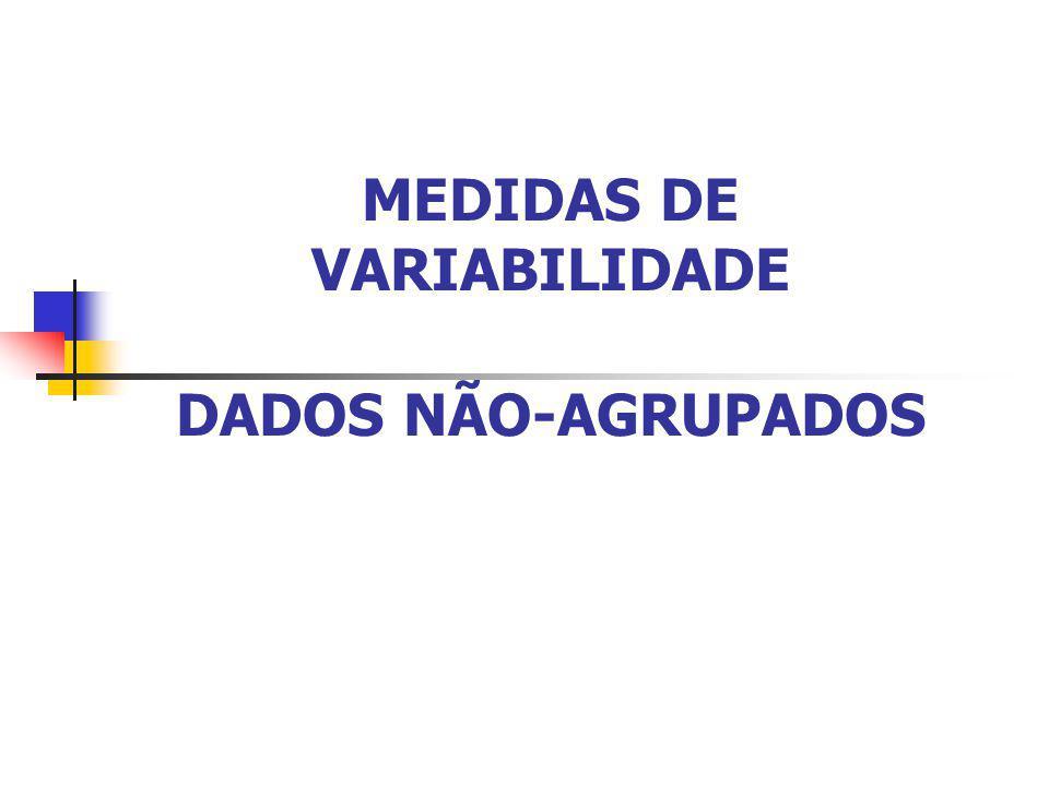 Profa. Rossana Fraga Benites MEDIDAS DE VARIABILIDADE DADOS NÃO-AGRUPADOS