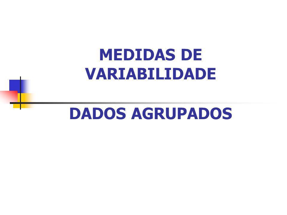 Exercício: Determine o desvio-padrão amostral para os dados abaixo: 5 8 11 16