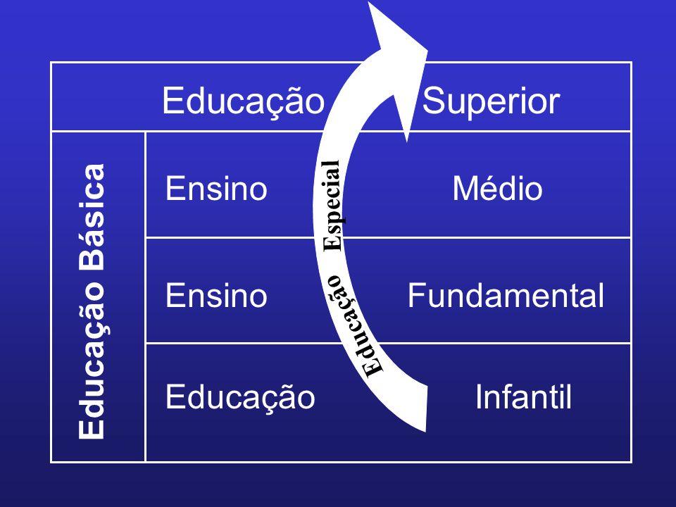 Educação Superior Educação Básica EnsinoMédio EnsinoFundamental EducaçãoInfantil Educação Especial
