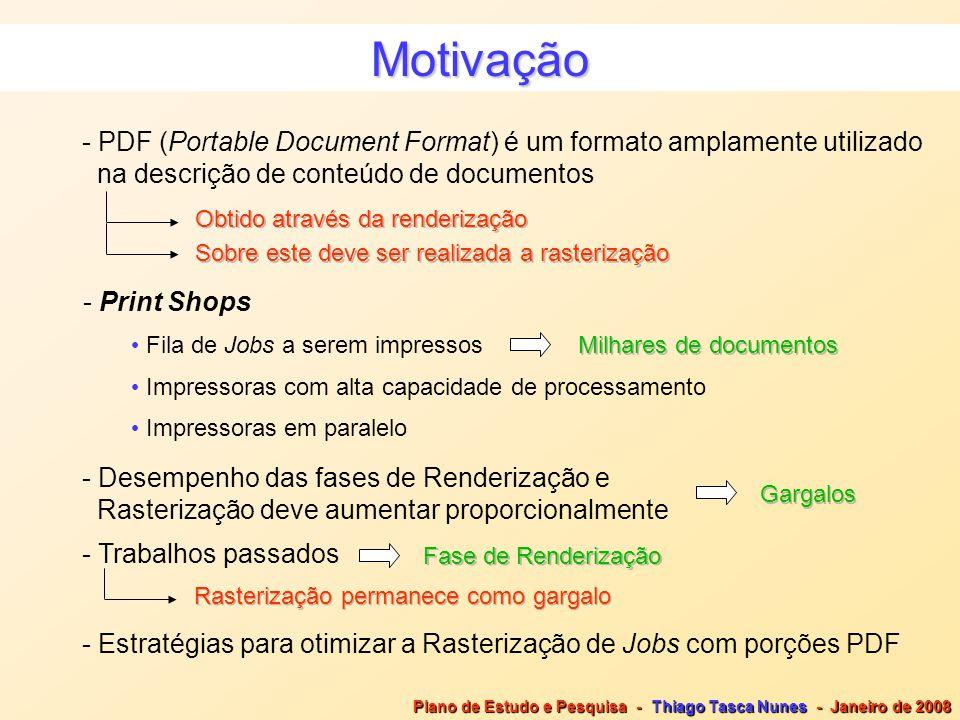 Motivação - PDF (Portable Document Format) é um formato amplamente utilizado na descrição de conteúdo de documentos Obtido através da renderização Sob