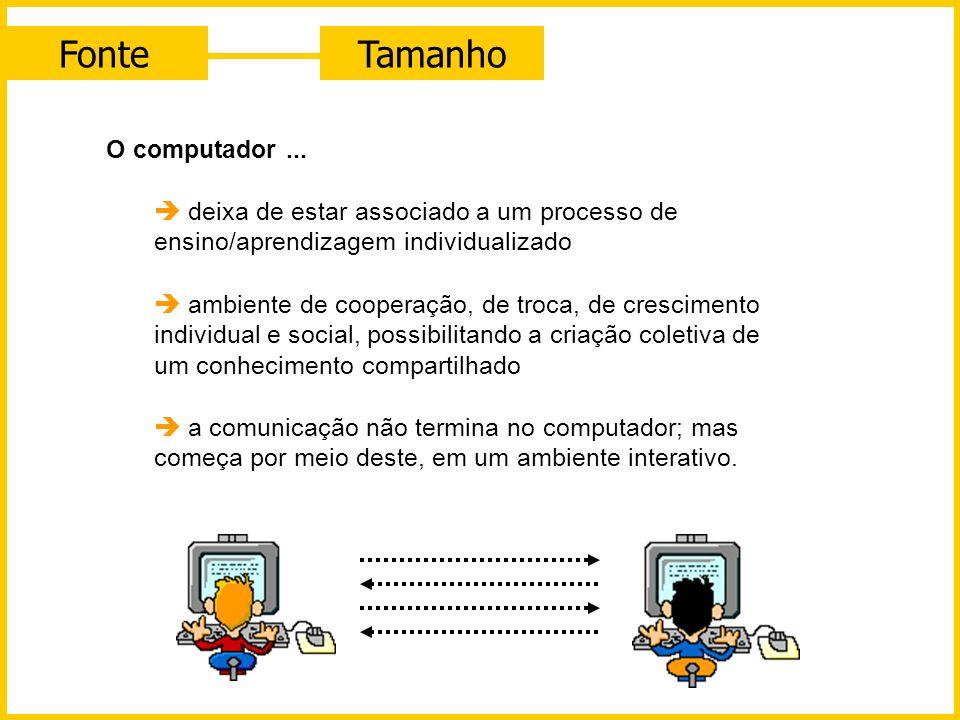 FonteTamanho O computador incorporado com novas tecnologias de comunicação, como redes de computadores, por exemplo, deixa de estar associado a um pro