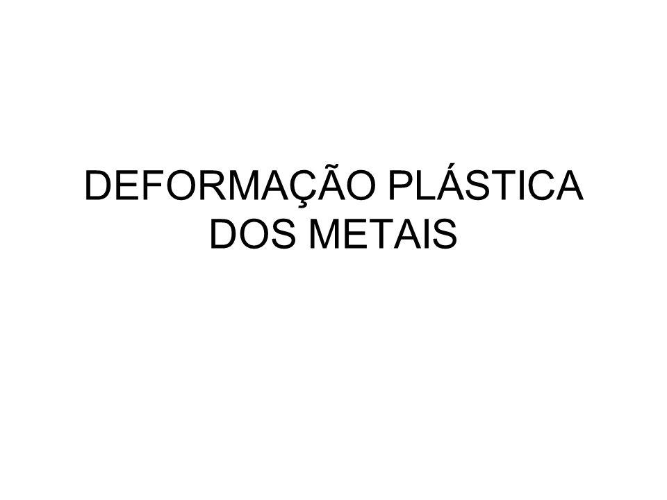 Temperatura de recristalização (temperatura em que o material recristaliza em 1 hora) e de fusão para diversos metais e ligas