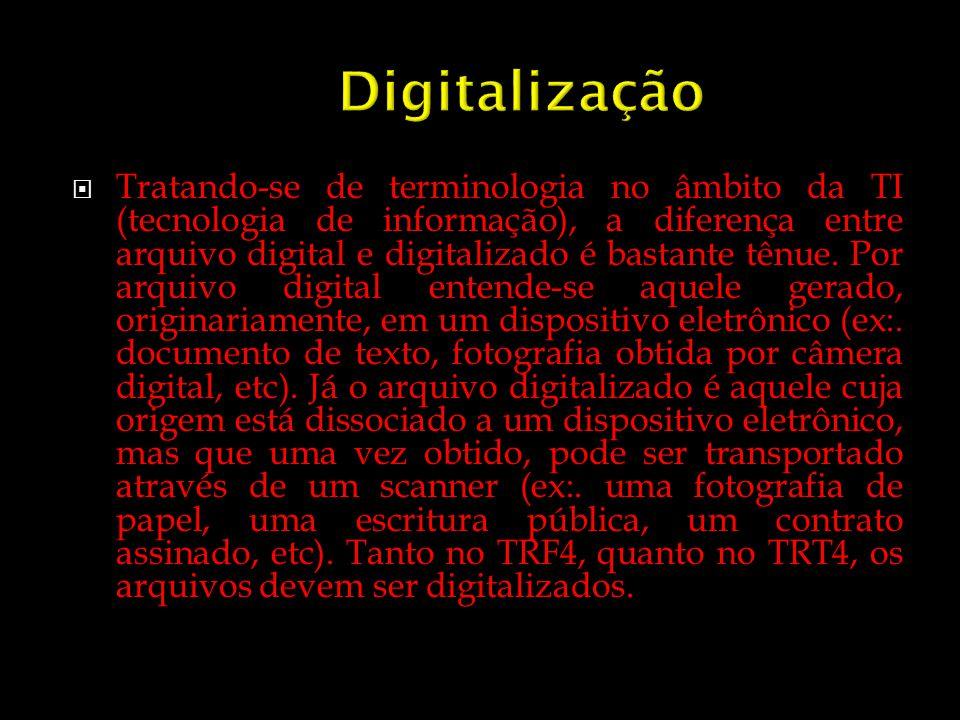 Tratando-se de terminologia no âmbito da TI (tecnologia de informação), a diferença entre arquivo digital e digitalizado é bastante tênue. Por arquivo