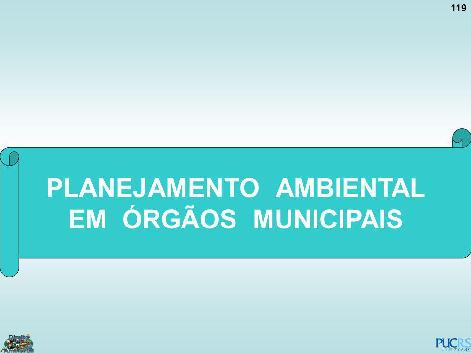 119 PLANEJAMENTO AMBIENTAL EM ÓRGÃOS MUNICIPAIS