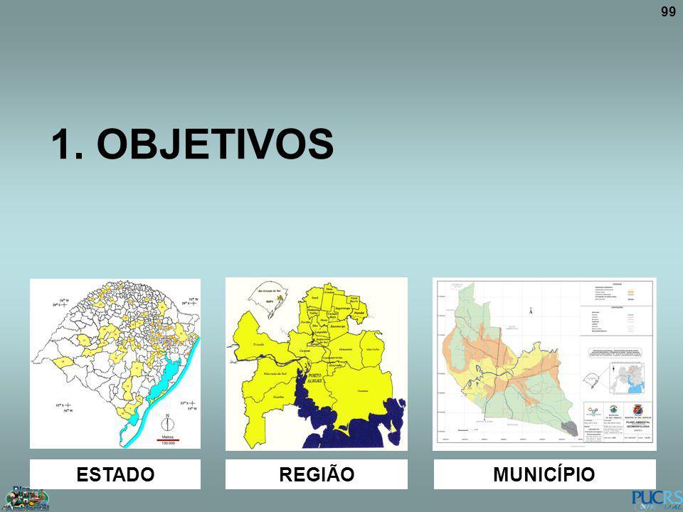 99 1. OBJETIVOS ESTADO REGIÃOMUNICÍPIO