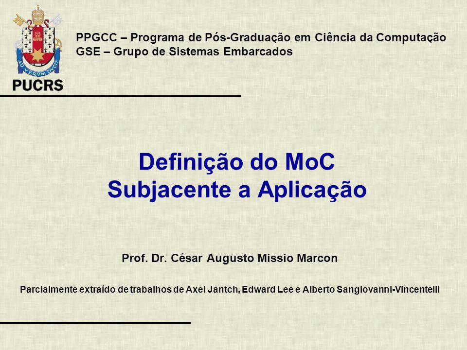 Definição do MoC Subjacente a Aplicação Prof. Dr.