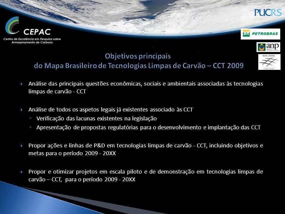Análise das principais questões econômicas, sociais e ambientais associadas às tecnologias limpas de carvão - CCT Análise de todos os aspetos legais j
